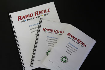 printed and spiral bound books