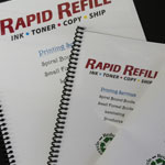 printed and spiral bound booklets